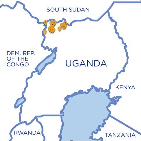 Uganda Refugee Map