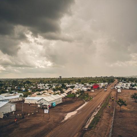 Bidi Bidi refugee settlement in Northern Uganda.