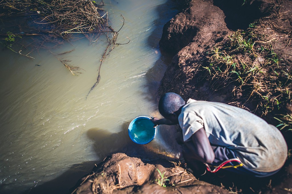 Dirty water in Tanzania