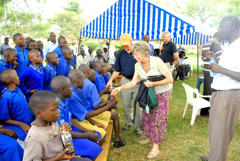 Molly and George Greene III at St. Francis Hospital in Uganda.