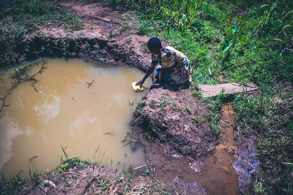 Dirty water in Uganda
