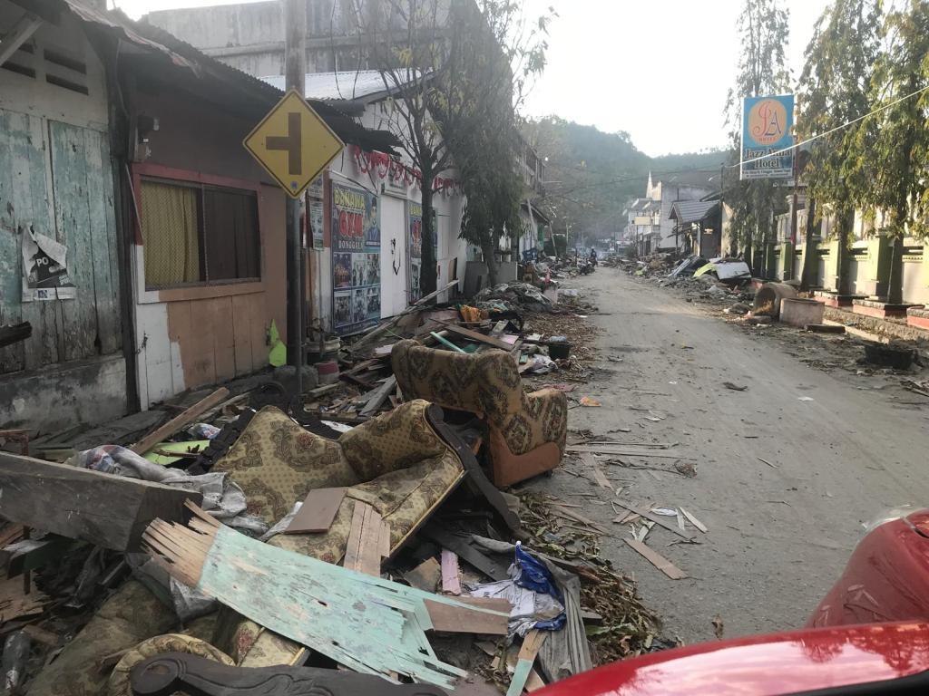 Devastation in Sulawesi, Indonesia