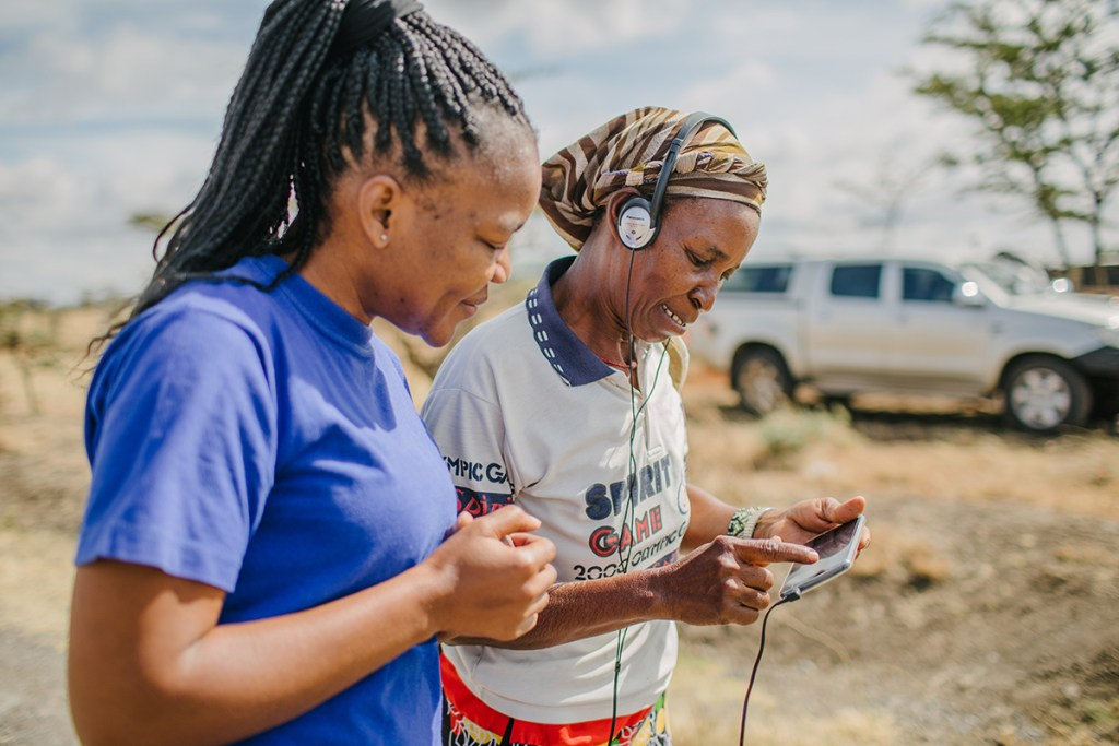Vivian, a project officer on Water Mission's Kenya team, administers surveys to determine the long-term viability of safe water projects & well-being of communities