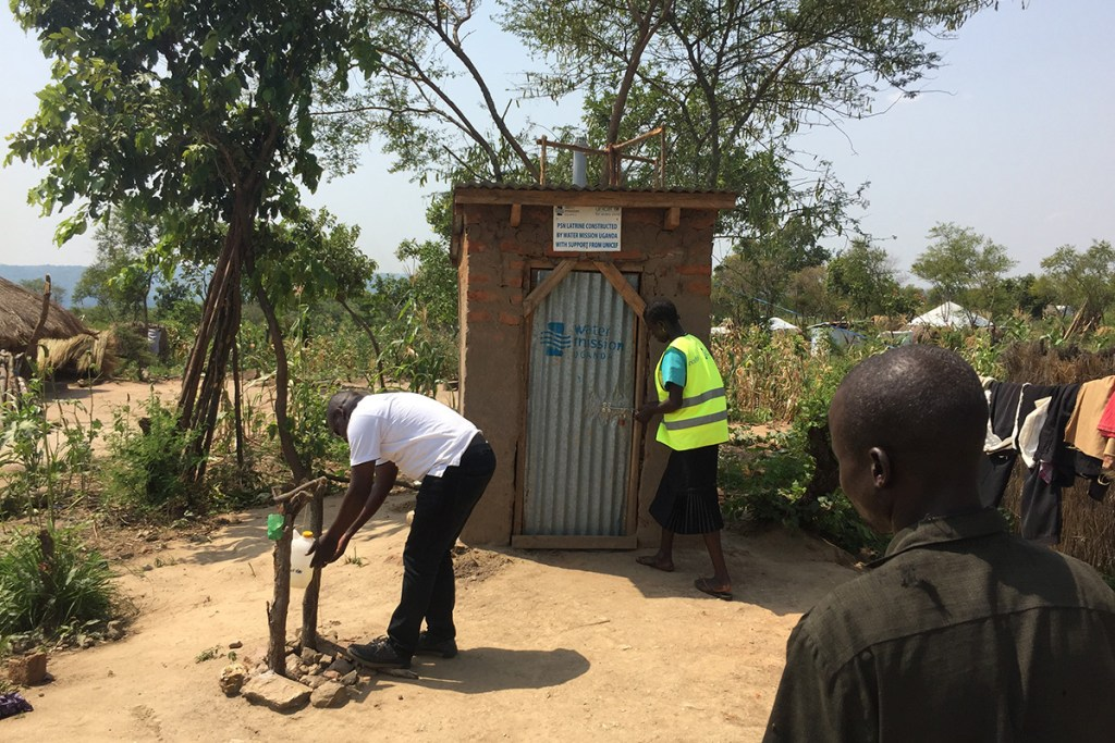 Customized, accessible latrines for physically disabled persons in Bidi Bidi refugee settlement