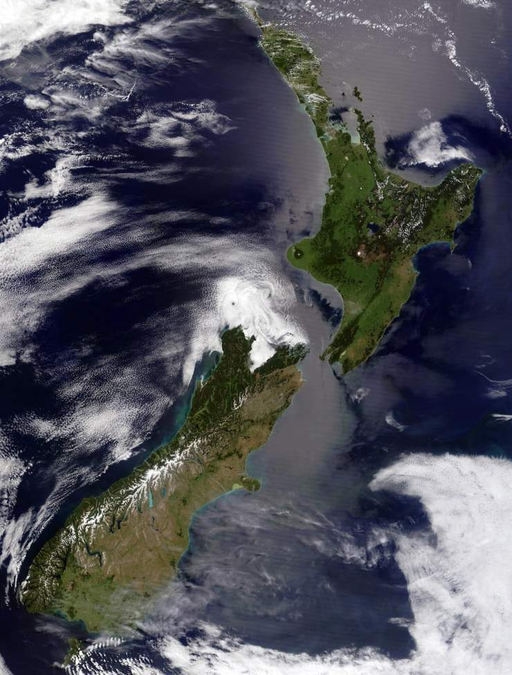 Satellite of New Zealand