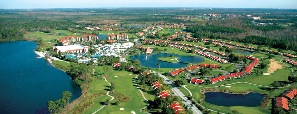 Aerial View of the Holiday Inn Orange Lake Resort in Kissimmee Fl wide
