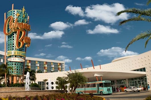 Entrance to the Lowes Cabana Bay Resort Orlando Fl