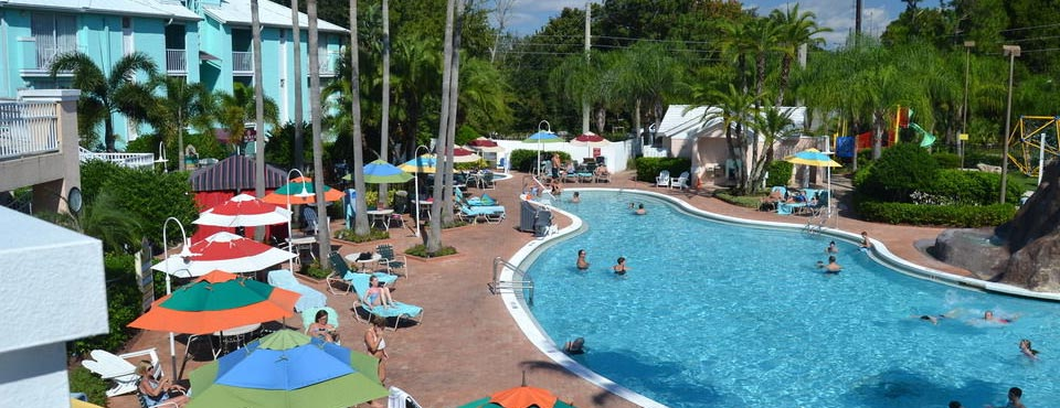 View of the volcano pool at the Cypress Pointe Resort in Orlando 960