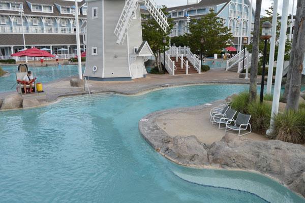 Disney Yacht Club Resort Lagoon Style Pool Water Slide