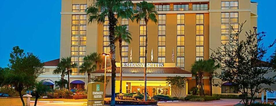 Front Entrance to the Embassy Suites on International Drive in Orlando Fl 960