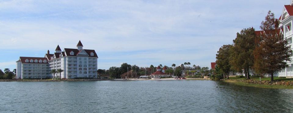 Disney Deluxe Resort Grand Floridian views from the lake