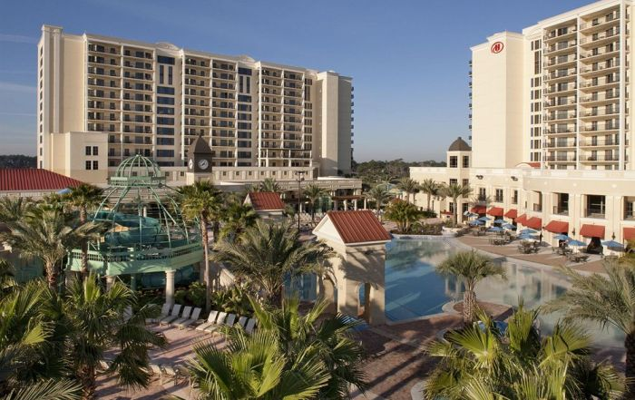 Overview of the Outdoor Large Pool at Parc Soleil by Hilton in Orlando Fl
