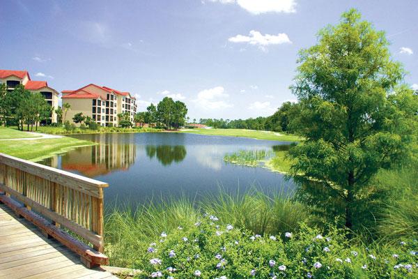 Holiday Inn Orange Lake Resort view over the Lake