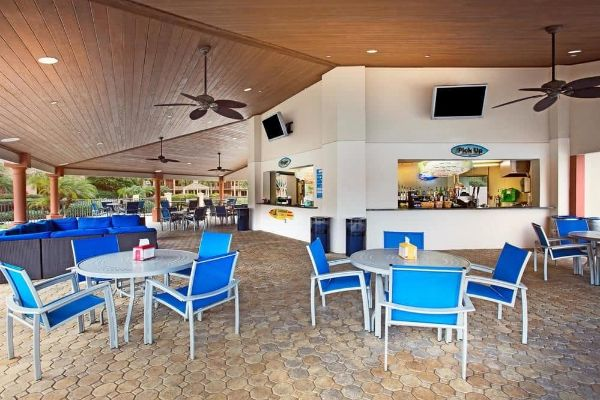 Oasis Pool Bar and Gille outdoor seating Wyndham Garden Lake Buena Vista