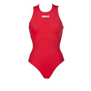costume donna pallanuoto, arena rosso, waterpolostore, fronte