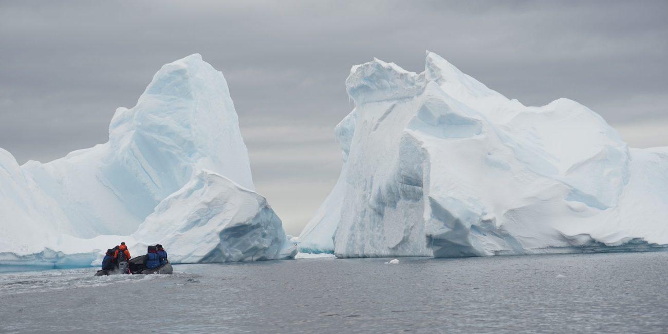 Zodiac cruise iceberg Antarctica