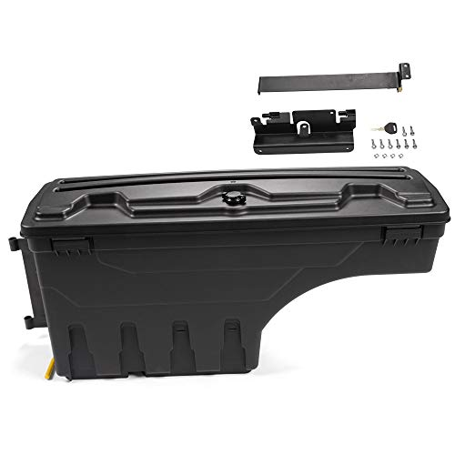 G-PLUS for Chevy Silverado GMC Sierra 1500 2500 3500 2007-2018 Lockable Storage Box Case Truck Bed Toolbox Rear Left Driver Side
