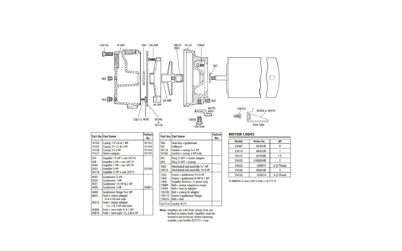 Repair Rebuild Kit Fits Xsh23 Goulds Jet Pump Xsh23kit