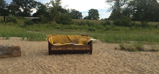 The funky beach couch