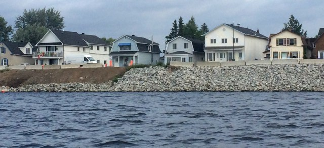 It's hard to encourage citizens to maintain natural shorelines when the city does this!