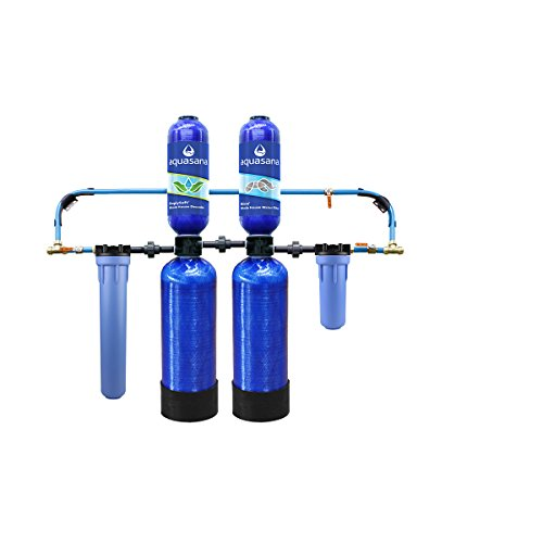 Aquasana 10-Year, 1,000,000 Gallon Whole House Water Filter with Salt-Free Softener and Professional Installation Kit
