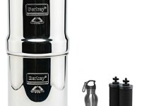 Big Berkey Water Filter 2.5 Gallon System Bundle: 2 Black BB9 Filters, 2 PF2 Fluoride Filters, 1 Stainless Steel Water Bottle