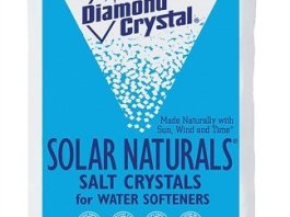 Diamond Crystal 804017 Solar Naturals Water Softener Salt, 50 Lbs