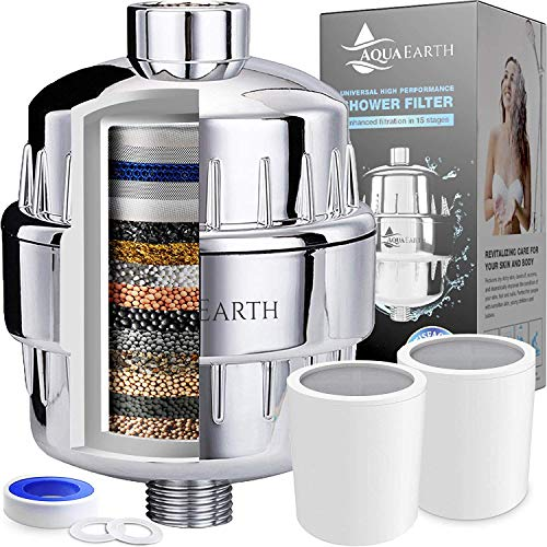 Aqua Earth 15 Stage Shower Filter With Vitamin C Shower Filters
