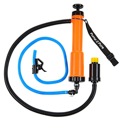 Seychelle Portable Water Filter Camping Pump for Outdoors, Hiking, Travel, Emergency Preparedness