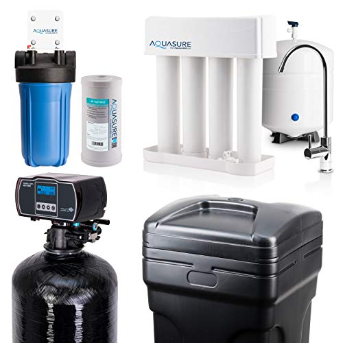 Aquasure Whole House Water Filtration Bundle w/Fine Mesh Resin Water Softener