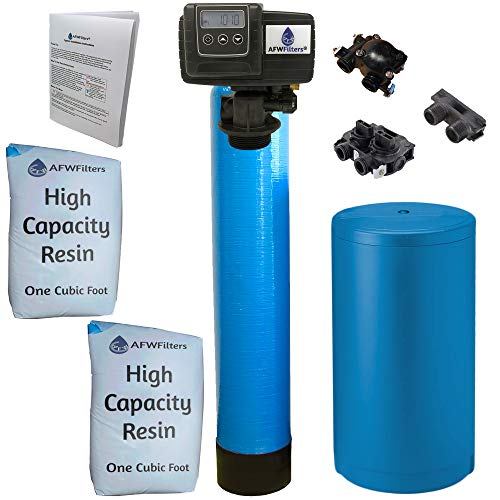 Fleck Blue High Capacity Resin Whole House Water Softener System 5600sxt