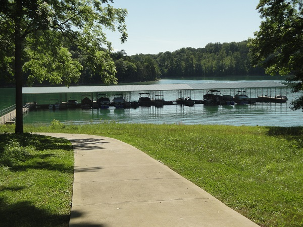 Nice walk to covered boat dock