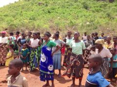 Some needy women and Children of Chingazi EPC in Phalombe eagerly waiting to receive food from The EPC relief team.
