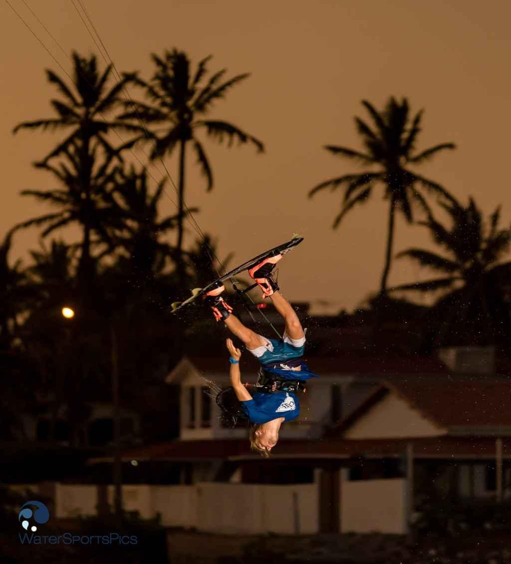 Barra do Rio flash sunset session with Dylan van der Meij, Brazil on 07 November 2014