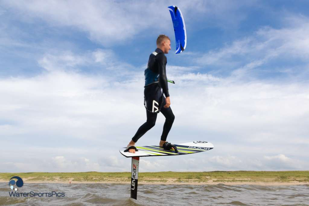 Foil Session with Dylan van der Meij  at Beach Break, Noordwijk on 03 September 2016