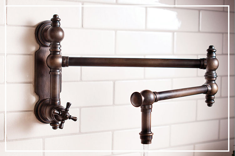 pot filler faucets waterstone wall