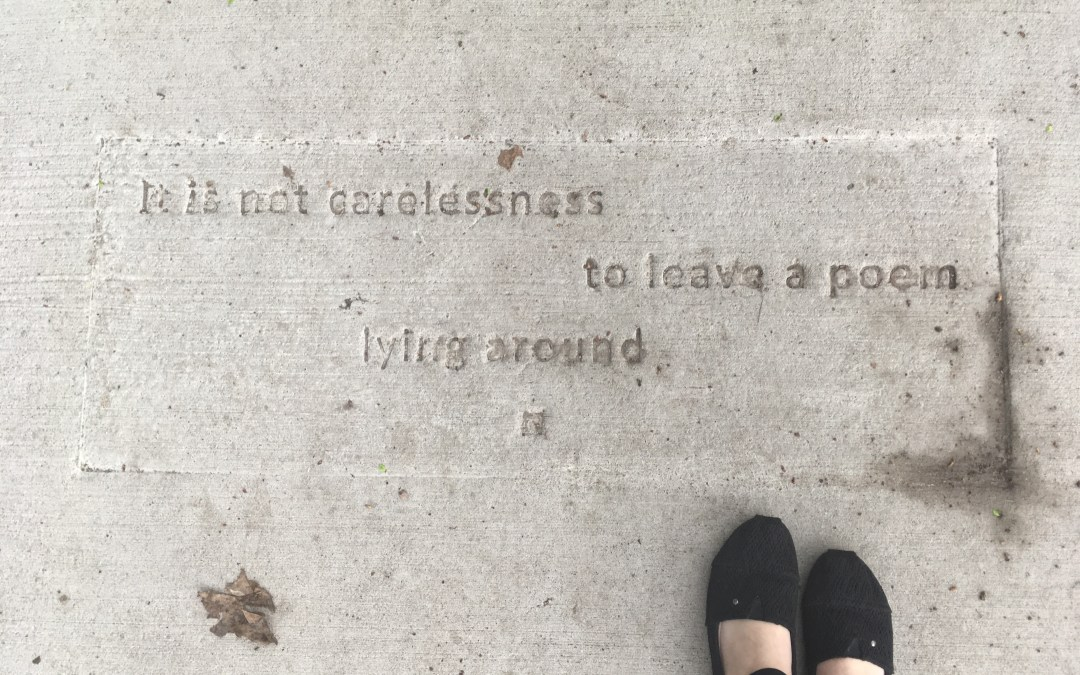 Sidewalk Poetry: Small Moments that Matter, By Amanda Happy