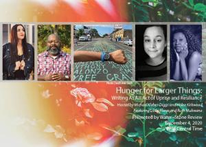 Hunger for Larger Things reading, presented by Water~Stone Review