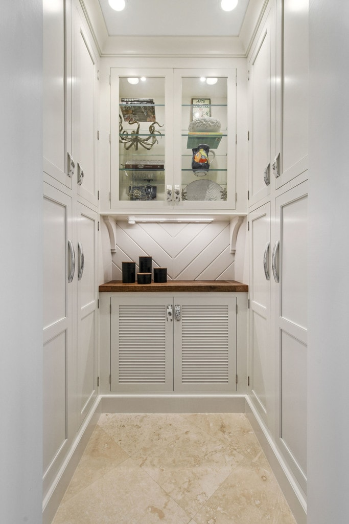 Navy And White Kitchen With Butlers Pantry Waterview Kitchens