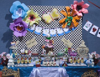 Alice in wonderland sweets table 2