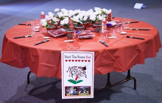 Painting the roses table