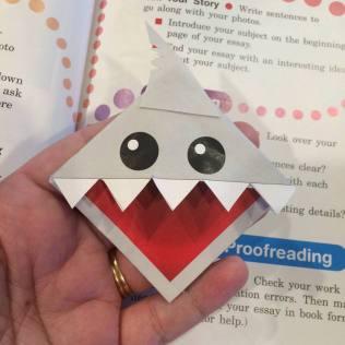 Shark bookmark 1