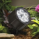 Several tiny LED lights go into a single fixture like this one from Kichler