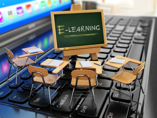 online e-learning classroom