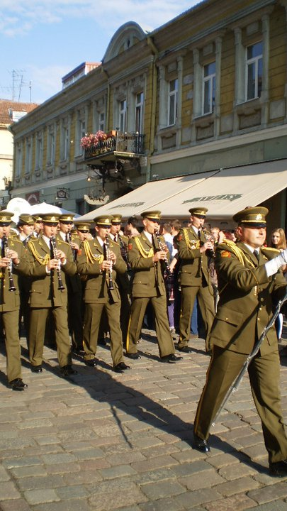Parade in Kaunas, Lithuania