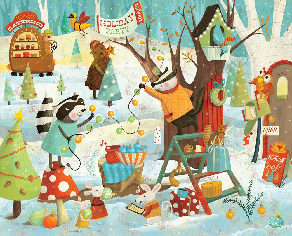Christmas Party Illustration Watsonillo