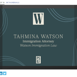 tahmina watson women of influence