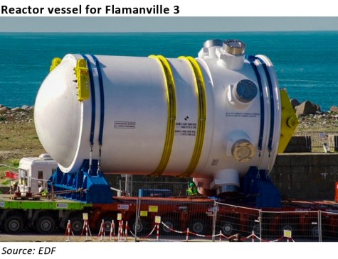 Flamanville 3 reactor vessel