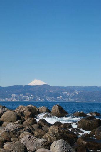 วิวฟูจิที่ถ่ายจาก Hatsushima