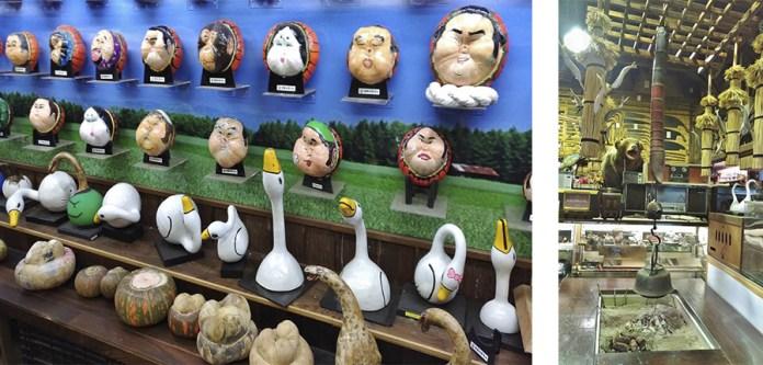 元祿松戶村內有許多早期的民生用品收藏,最大的看頭則是南瓜手繪臉譜